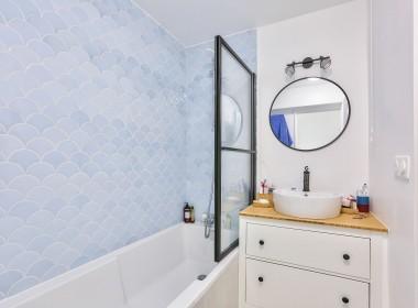 Salle de bain - Chambre 1 - Paris 20ème Ménilmontant - appartement à vendre avec PropriLib, l'agence immobilière à commission fixe
