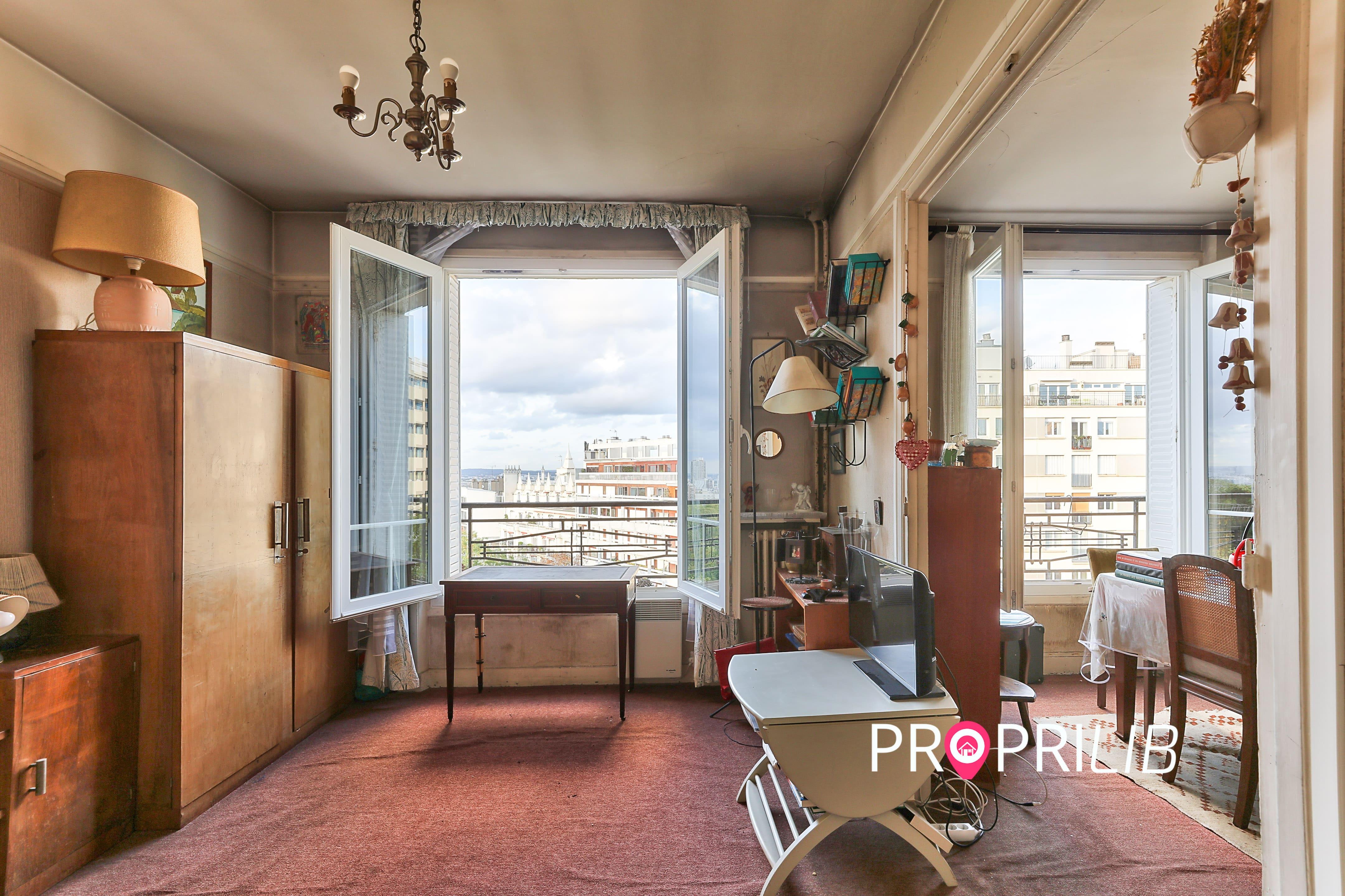 PropriLib l'agence immobilière en ligne au forfait vend cet appartement à Paris 19 ème