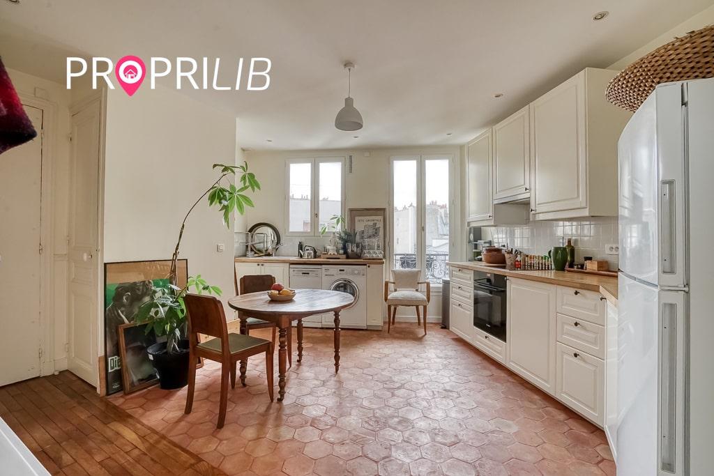 PropriLib l'agence immobilière en ligne à prix fixe vend cet appartement à Paris 18 ème