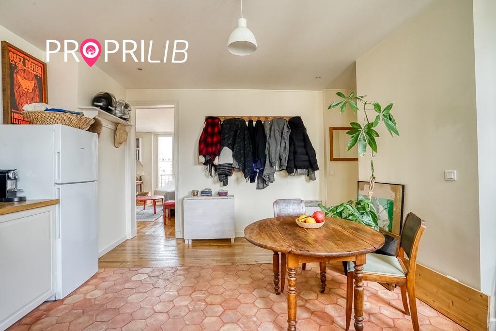 PropriLib l'agence immobilière en ligne au forfait vend cet appartement à Paris 18 ème