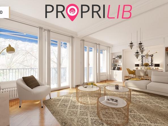 proprilib vend un appartement de 131 m2 devant le parc de la tete d'or